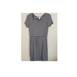Striped Midi Dress with strings attached